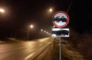 Ползком по новой трассе: на Рославльском шоссе в Смоленске ограничивают скорость до минимума