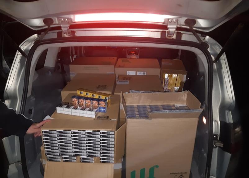 Через Смоленщину пытались ввезти 6,5 тыс. нелегальных сигарет. ФСБ задержала водителя