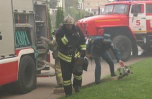 В Смоленске во время пожара на Кловке пострадал человек