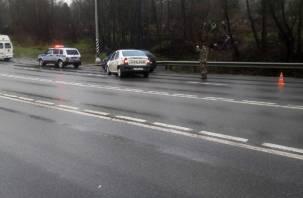 В Смоленской области водитель иномарки попал в два ДТП за 2 часа