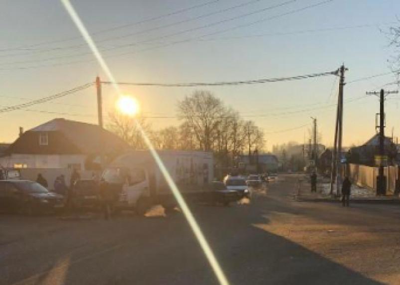 В Рославле в тройном ДТП пострадала женщина