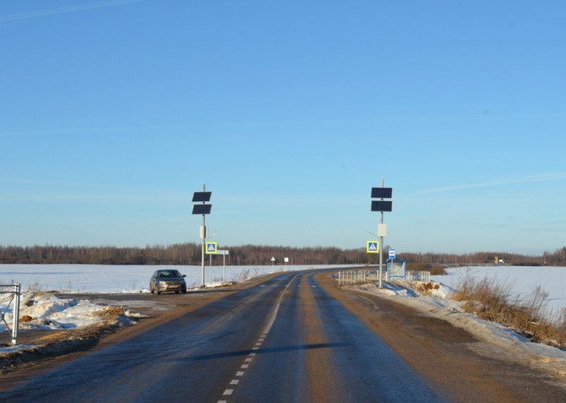 Смоленскавтодор отремонтировал участок дороги в Гагаринском районе