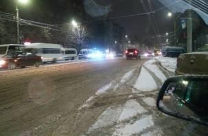 Снежное месиво. Жители Смоленска возмущены уборкой дорог