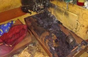 В Ярцеве в высотке сгорел мужчина