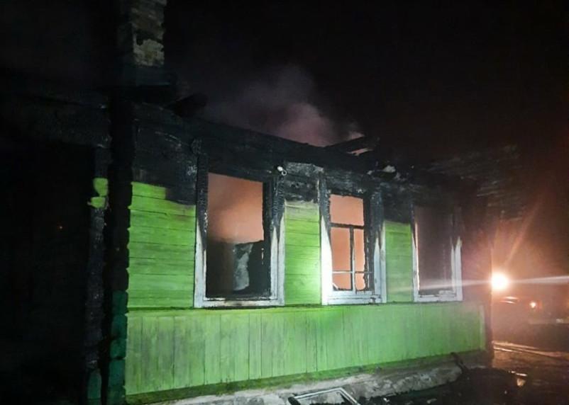 В Велиже в пожаре погибла женщина