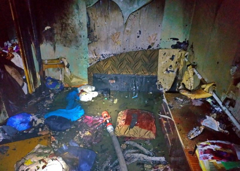 В Ярцеве в горящей квартире пострадал мужчина