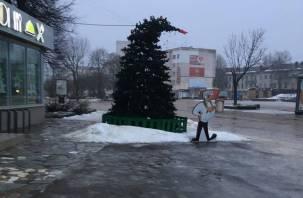 Новогоднюю елку в центре Смоленска похвалили за «верность традициям»