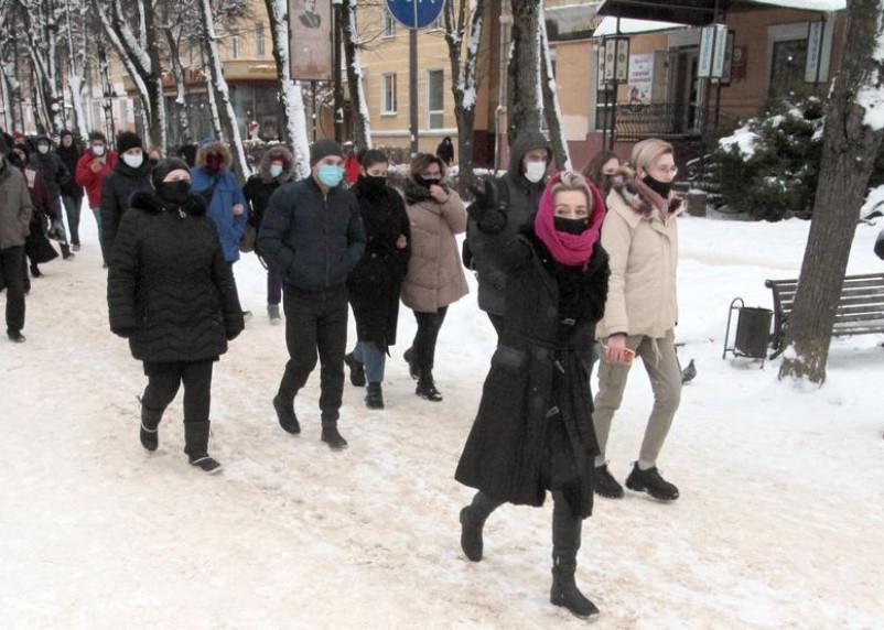После несанкционированного шествия в Смоленске задержано не менее 6 человек