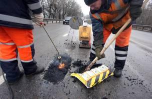 В Смоленске после массовых пробоев колес ремонтируют Крестовоздвиженский мост