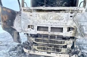 На трассе М-1 в Смоленской области водитель тягача получил ожоги
