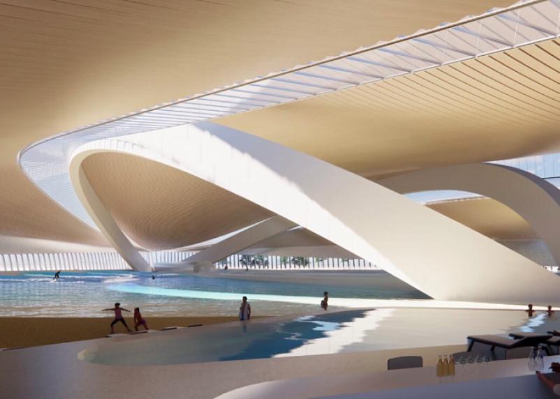 В Москве появится тропический пляж с генератором волн
