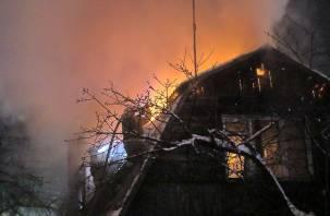 Огонь уничтожил жилой дом в Рославльском районе
