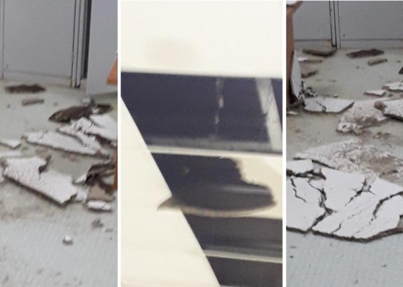На посетителей бассейна в Смоленске чуть не рухнул подвесной потолок