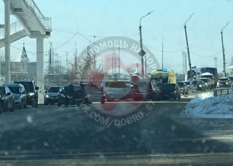 В Смоленске произошло массовое ДТП на Витебском шоссе