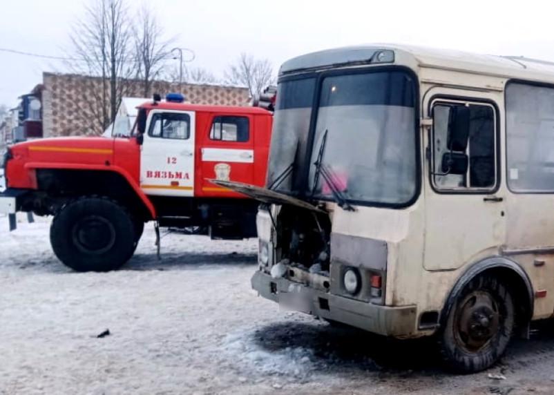 В Смоленской области на ходу загорелся рейсовый автобус