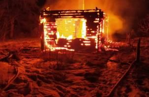 Женщина погибла при пожаре в Руднянском районе