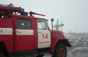 Вечером 17 марта в Сафоновском районе горела баня