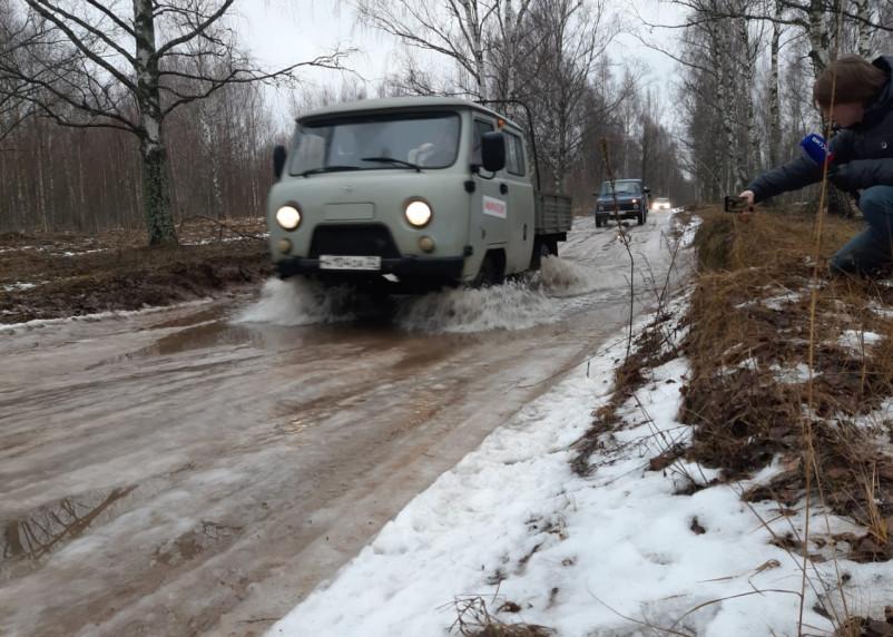 Старинная дорога, соединяющая Смоленскую и Брянскую области, полностью разбита