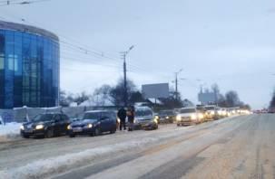 ДТП на улице Шевченко спровоцировало пробку в Смоленске