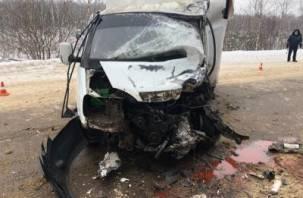 В Рязанской области столкнулись два грузовика. Пострадал смолянин