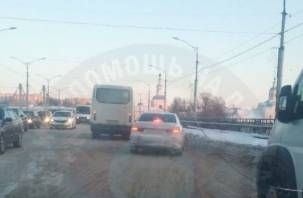 Утро в Смоленске началось с пробок