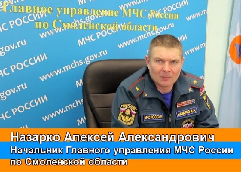 Начальник ГУ МЧС Смоленской области записал видеообращение о пожарах