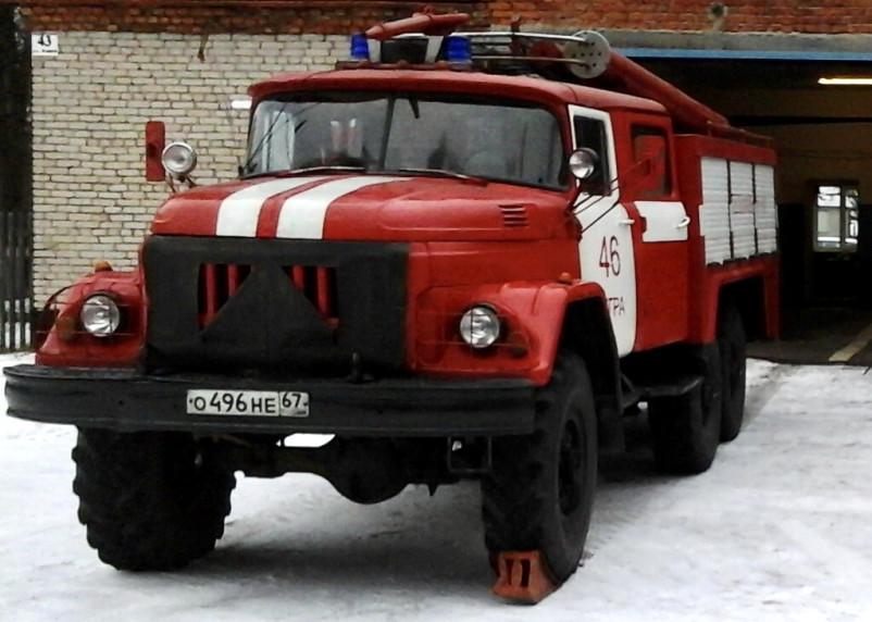 Дымило по-черному. Что тушили пожарные на Шевченко в Смоленске
