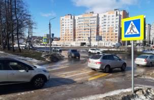 Качество реконструкции улицы Генерала Трошева в Смоленске может оказаться под угрозой