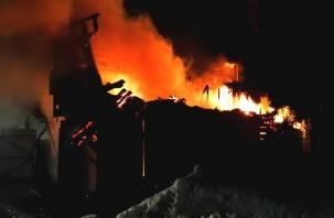 Один человек погиб и один выжил в пожаре в Смоленском районе