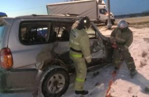 В Смоленской области в жестком ДТП с фурой пострадал человек
