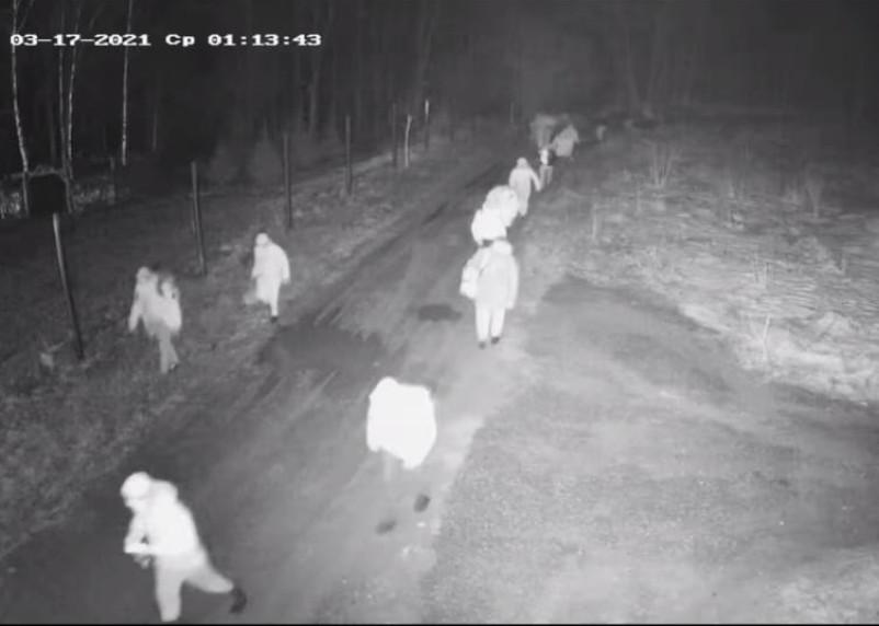 Смолянин заснял на видео массовый переход нелегалов через российскую границу