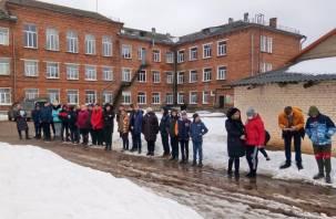 В Рославле эвакуировали общеобразовательный центр «Южный»