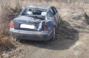 В Починковском районе Фольксваген вылетел в кювет. Водитель госпитализирована