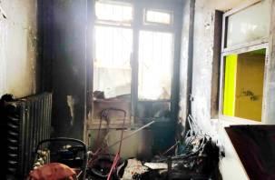 Эвакуировали троих детей. На Маршала Соколовского загорелось подсобное помещение