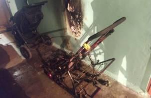 В Сафонове загорелись детские санки