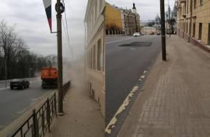 «Круговорот песка и пыли». Смоляне уже не удивляются плохой уборке города
