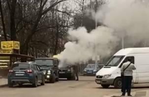 В Смоленске загорелась инкассаторская машина