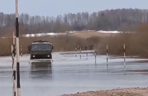 Масштабы затопления дороги в Смоленской области сняли на видео