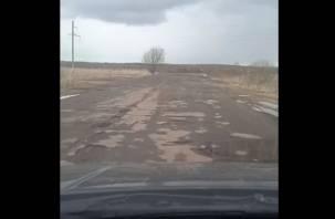 «Даже в перестройку такого не было». Смоляне оценили дорогу в Гагаринском районе