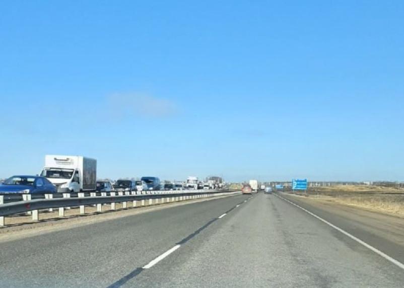 Смоляне сообщают о пробках из-за закрытого моста на Рославльском шоссе