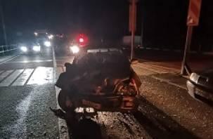 В Смоленской области водитель иномарки пострадал в ДТП на трассе М-1
