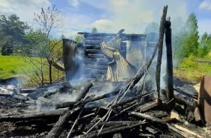Женщина пострадала при пожаре в Смоленской области. Пыталась спасти свой дом