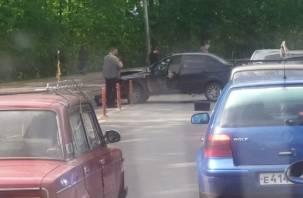 Жёсткое ДТП в Смоленске на Большой Советской попало на видео