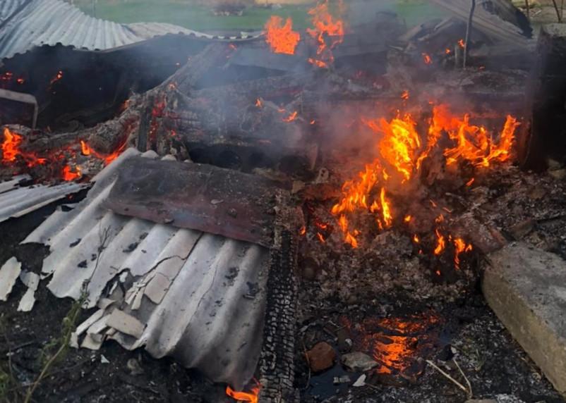 В Вяземском районе сгорели три мотоцикла