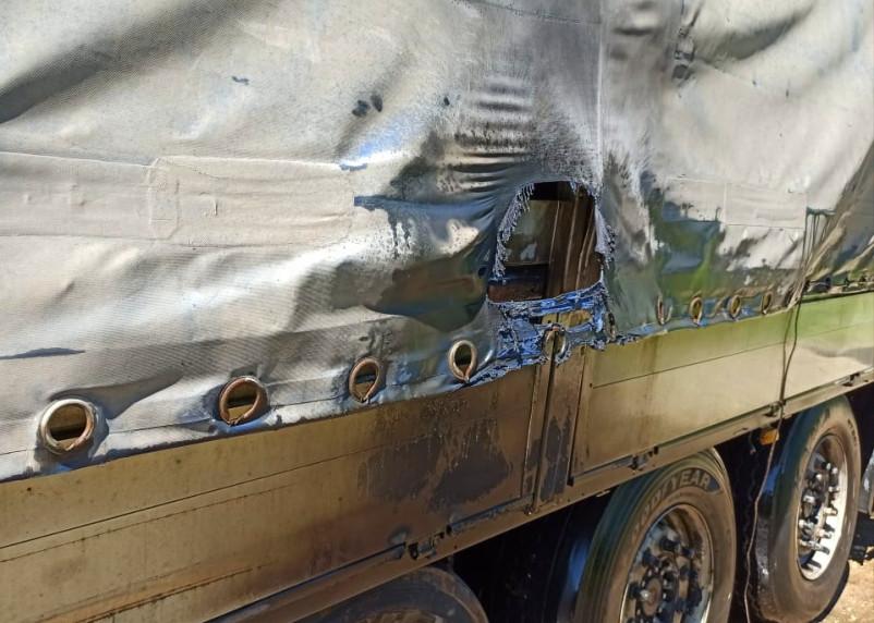 «Взорвавшееся» колесо прицепа фуры стало причиной пожара в Починковском районе