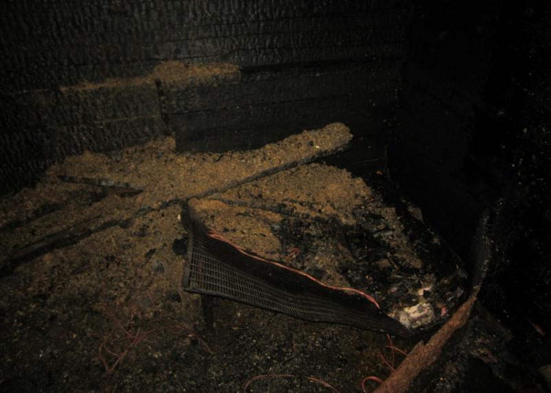 Погибли куры и цыплята. Пожар вспыхнул в поселке Холм-Жирковский