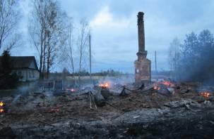 В результате пожара в Сафоновском районе погиб человек