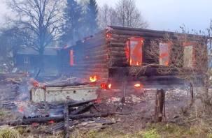 Проснулись от запаха дыма. Появились подробности вечернего пожара в Сычевском районе