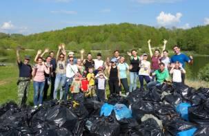 221 мешок и один телевизор: Александровское озеро отчистили от мусора