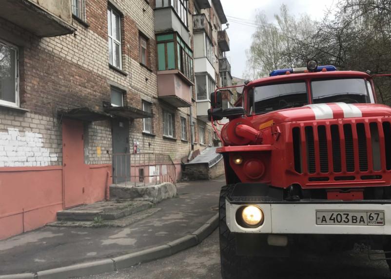Хозяйка квартиры в Вязьме сама потушила возгорание